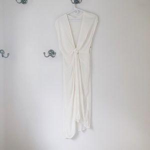 NWOT BRAND NEW COTTON CANDY LA WHITE MAXI DRESS